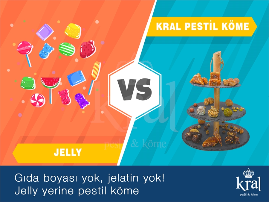 """Yumuşak Şeker (Jelly şeker) yerine çocuklarımıza """"Pestil ve Köme"""""""